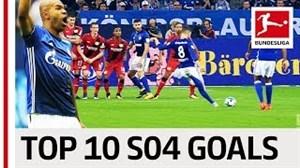 10 گل برتر شالکه در بوندسلیگا فصل 18-2017