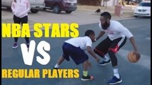 ستارگان NBA در مقابل بسکتبالیست های معمولی