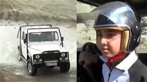 استعداد بینظیر کودک 7 ساله در اتومبیلرانی آفرود