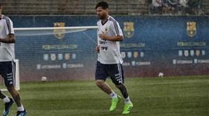 تمرین امروز تیم ملی آرژانتین در کمپ بارسلونا