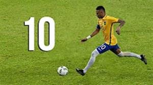 10 گل برتر نیمار در تیم ملی برزیل