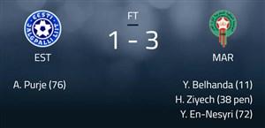 خلاصه بازی استونی 1 - مراکش 3