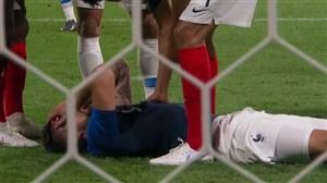 مصدومیت شدید بازیکن فرانسه و آمریکا در بازی دوستانه