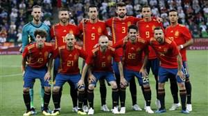 ترکیب تیم ملی اسپانیا اعلام شد