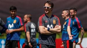 تمرین جالب بازیکنان اسپانیا