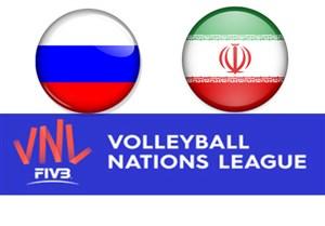خلاصه والیبال روسیه 3  - ایران 1 (لیگ ملتها)