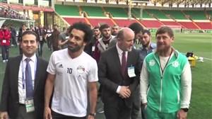 تشویق و استقبال قهرمانانه از محمدصلاح در تمرین مصر