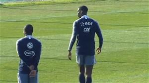 تمرینات تیم ملی فرانسه پیش از شروع جام جهانی