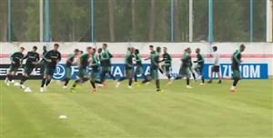 تمرین تیم ملی پرتغال برای رویارویی با تیم ملی اسپانیا