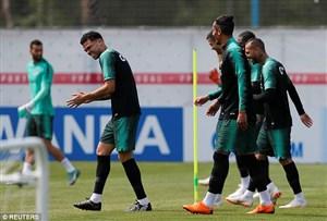 تمرین پرتغال فقط 15 دقیقه باز بود