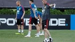 اولین تمرین تیم اسپانیا زیر نظر هیرو