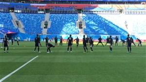 تمرین تیم ملی ایران در ورزشگاه بازی با مراکش؛ سن پترزبورگ