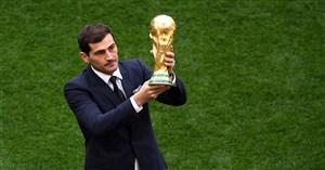 رونمایی کاسیاس از کاپ زیبای جام جهانی