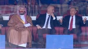 واکنش پوتین و اینفانتینو به گل پنجم روسیه به عربستان