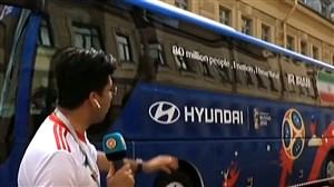 اتوبوس تیم ملی آماده اعزام بازیکنان به ورزشگاه