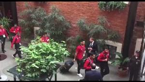 حرکت اتوبوس تیم ملی از هتل به سمت ورزشگاه سن پترزیورگ