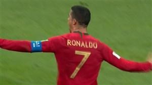 کاشته دیدنی و هتریک رونالدو در مقابل اسپانیا