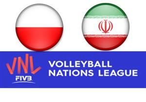 خلاصه والیبال ایران 3 - لهستان 0 (لیگ ملتها)
