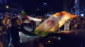 شادی مردم پایتخت، پس از برد ایران مقابل مراکش