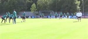 تمرین تیم ملی آلمان برای رویارویی با مکزیک