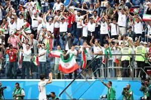 همراه با هواداران ایران مقابل مراکش در سنپترزبورگ