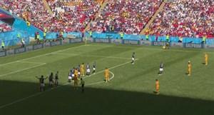 گل اول استرالیا به فرانسه  ( یدیناک-پنالتی)