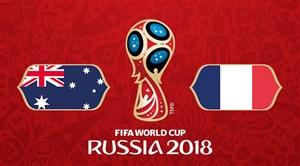 خلاصه بازی فرانسه 2 - استرالیا 1 (جام جهانی روسیه)