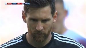 پنالتی از دست رفته آرژانتین توسط لیونل مسی