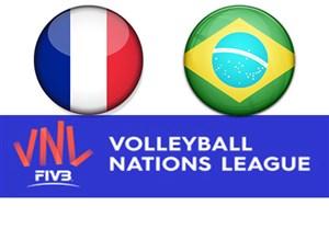 خلاصه والیبال فرانسه 3 - برزیل 0 (لیگ ملتها)