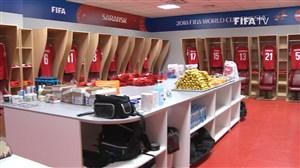 ورود به ورزشگاه و رختکن دو تیم دانمارک - پرو