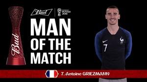 گریزمان برترین بازیکن دیدار فرانسه - استرالیا