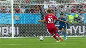 گل اول دانمارک به پرو (یوسف پولسن)
