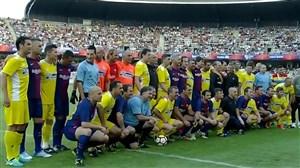 خلاصه بازی ستارگان بارسلونا 2 - ستارگان رومانی 0