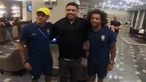 دیدار رونالدو با بازیکنان برزیل در هتل محل اقامت