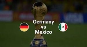 شماتیک ترکیب دو تیم آلمان - مکزیک
