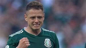 سوت پایان دیدار آلمان - مکزیک و شادی بازیکنان مکزیک