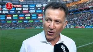 مصاحبه با مربی مکزیک پس از پیروزی مقابل آلمان