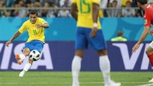 کوتینیو بهترین بازیکن برزیل- سوئیس
