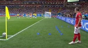 گل اول سوئیس به برزیل؛ استیون زوبر