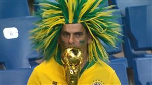 واکنش های هوادارن پس از تساوی برزیل و سوییس