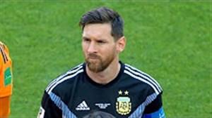 عملکرد لیونل مسی در برابر ایسلند