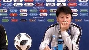 کنفرانس خبری سرمربیان کره جنوبی و سوئد پیش از بازی