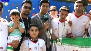 مصاحبه با هواداران تیم ملی ایران مقابل کمپ لوکوموتیو