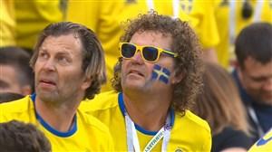 واکنش های هوادران سوئد و کره جنوبی در پایان بازی