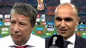 صحبتهای سرمربیان پس از بازی بلژیک و پاناما