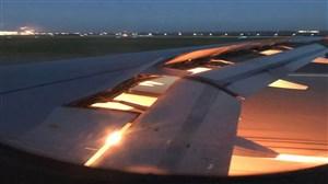 آتش گرفتن بال هواپیمای حامل بازیکنان عربستان سعودی