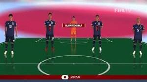 شماتیک ترکیب دو تیم کلمبیا و ژاپن