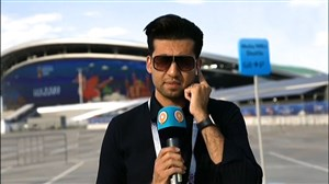 گفتگو با هواداران تیم ملی روبروی ورزشگاه کازان آرنا