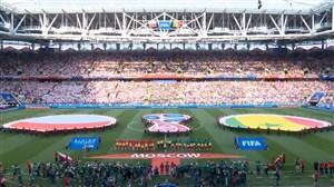 ورود و سرود دو تیم لهستان - سنگال