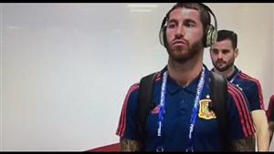 ورود تیم ملی اسپانیا به هتل و ورزشگاه کازان (اختصاصی)